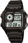 CASIO AE1200WH-1AV Time Piece Division: World Time Illuminator Watch replacement parts list